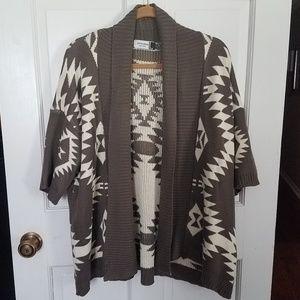 jon & anna Dolman Short Sleeve Cardigan Sweater